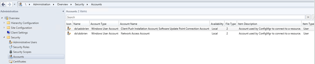 Create a Network Access Account–Configuration Manager 2012