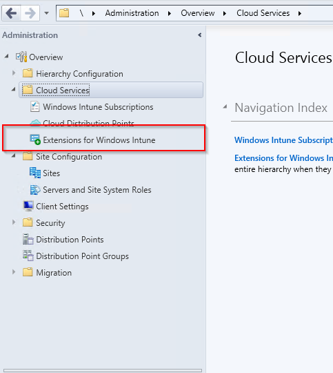 Extensions for Windows Intune