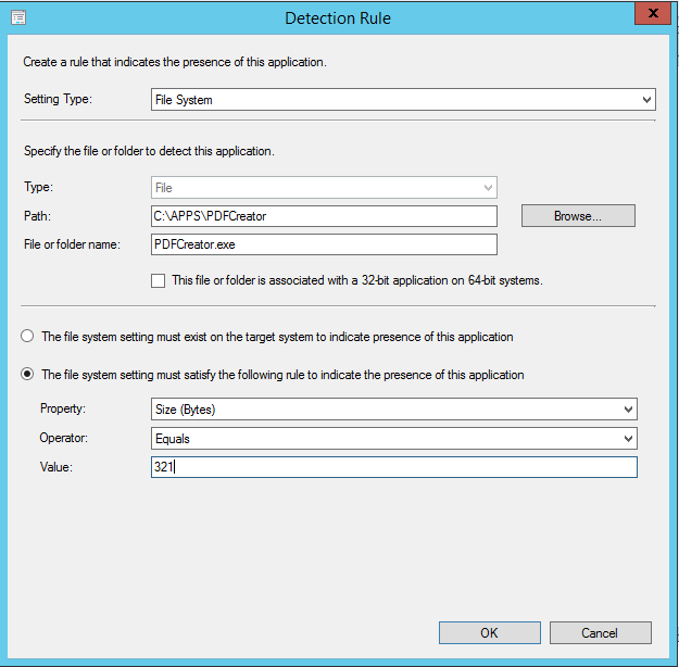 ConfigMgr Powershell Application Detection Methods - Cloud