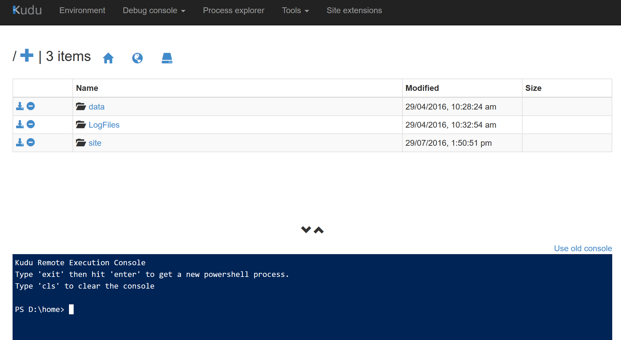 Azure Function KUDU PowerShell