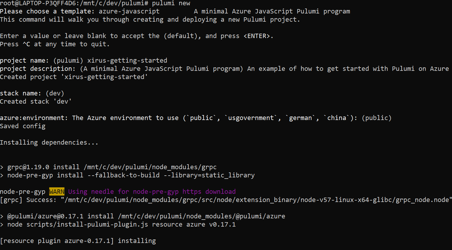 Getting started with Pulumi on Azure - Cloud for the win!